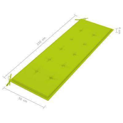 vidaXL Stapelbar trädgårdsbänk med dyna 159 cm massiv teak