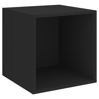 vidaXL TV-skåp 4 delar svart spånskiva