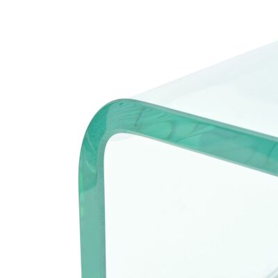 vidaXL TV-bord klarglas 60x25x11 cm