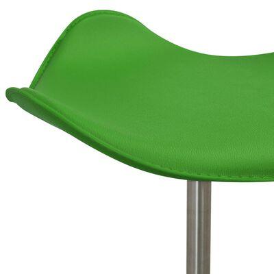 vidaXL Salongsstol grön konstläder, Grön
