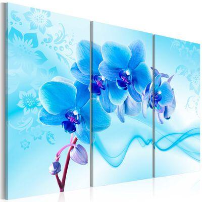 Tavla - Ethereal Orchid - Blue - 120x80 Cm