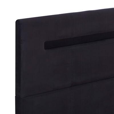 vidaXL Sängram med LED svart tyg 140x200 cm
