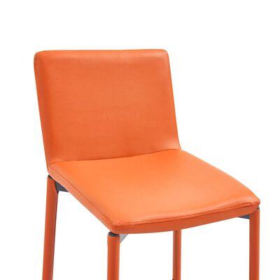 vidaXL Barstolar 6 st orange konstläder