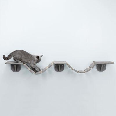 TRIXIE Väggmonterad klätterstege för katt 150x30 cm taupe