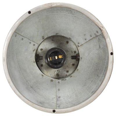 vidaXL Taklampa industriell silver E27 mangoträ