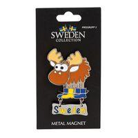 Magnet Souvenir Älg med plakat
