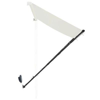 vidaXL Markis med LED 100x150 cm gräddvit
