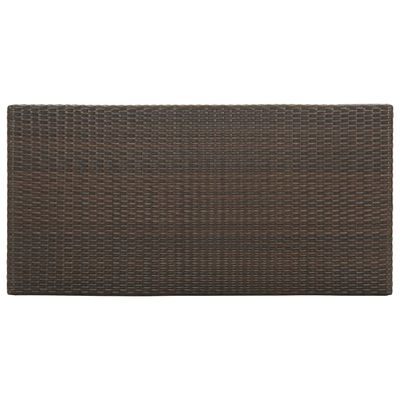 vidaXL Barbord med förvaringshyllor brun 120x60x110 cm konstrotting