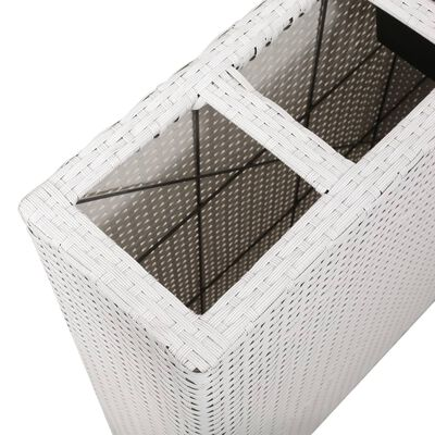 vidaXL Odlingslåda upphöjd med 4 krukor 2 st konstrotting vit