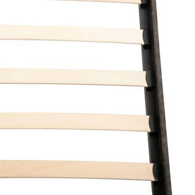 vidaXL Säng med memoryskummadrass mörkgrå tyg 160x200 cm