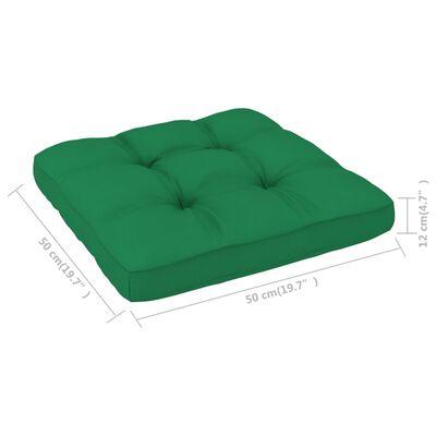 vidaXL Dyna till pallsoffa grön 50x50x12 cm