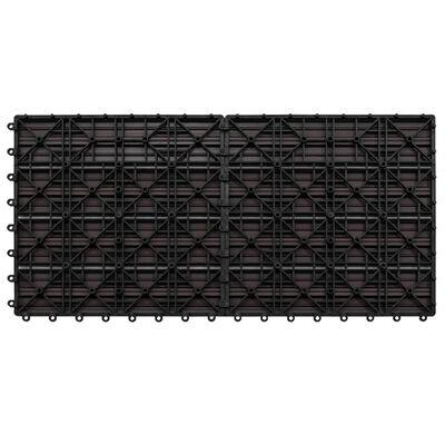 vidaXL Markplattor 6 st WPC 60x30 cm 1,08 m² mörkbrun
