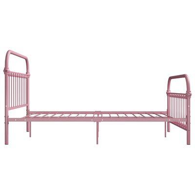 vidaXL Sängram rosa metall 120x200 cm