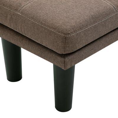 vidaXL 2-sitssoffa brun tyg