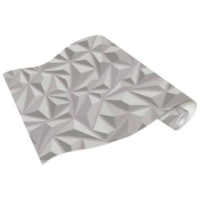 vidaXL Non-woven tapetrullar 4 st vit 0,53x10 m grafik, white (graphic)