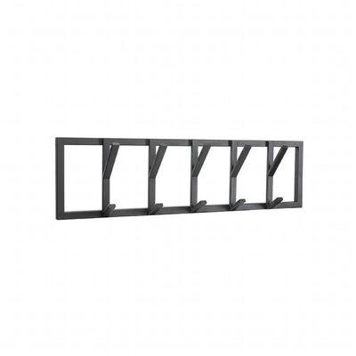 LABEL51 Krokhängare Frame 80x9x22 cm L svart