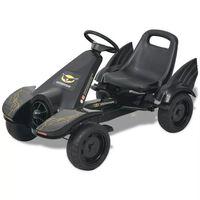 vidaXL Gokart med pedaler och justerbart säte svart