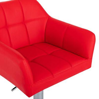 vidaXL Barstolar med armstöd 2 st röd konstläder