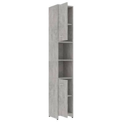 vidaXL Badrumsskåp betonggrå 30x30x183,5 cm spånskiva