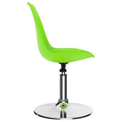vidaXL Matstolar snurrbara 4 st grön konstläder
