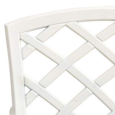 vidaXL Caféstolar 2 st gjuten aluminium vit