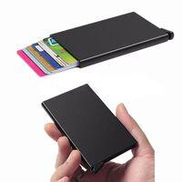 Svart korthållare skjuter Fram 5 kort - RFID säker