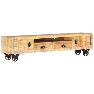 vidaXL TV-bänk 150x30x37 cm massivt mangoträ