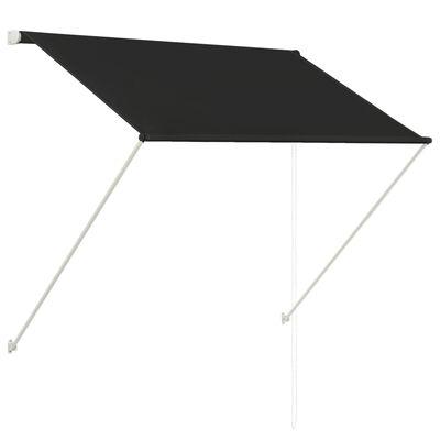 vidaXL Markis 150x150 cm antracit