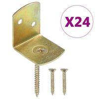 vidaXL L-beslag till staketpanel 24 st galvaniserad metall