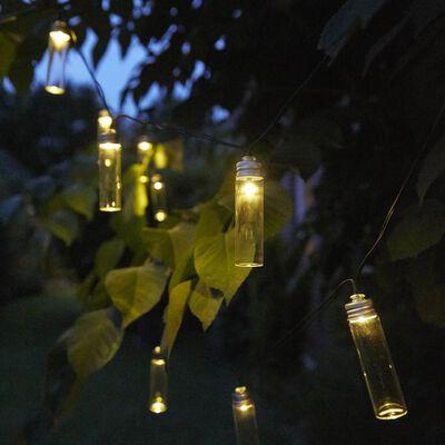 Luxform Partyslinga solcell LED 14 lampor Gordo transparent