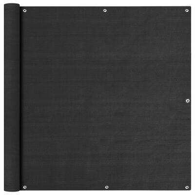vidaXL Balkongskärm antracit 120x600 cm HDPE