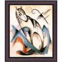 Med ram Seated Mythical Animal,Franz Marc,60x50cm