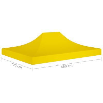 vidaXL Tak till partytält 4,5x3 m gul 270 g/m²