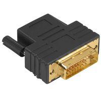 HAMA Adapter DVI D-HDMI Svart DVI-D Hane-Hona Guld