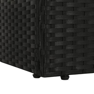 vidaXL Solsäng 195x60 cm konstrotting svart