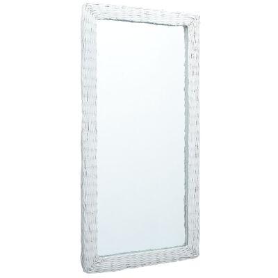 vidaXL Spegel vit 120x60 cm korgmaterial