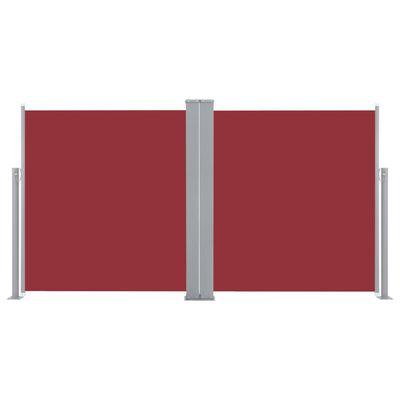 vidaXL Infällbar sidomarkis 170x600 cm röd