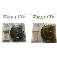 Victoria`s Design House Grattis Banér Girlang silver/guld 2-pack