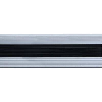 vidaXL L-formade halkskydd för trapp 15 st aluminium 100 cm silver
