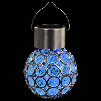 vidaXL Hängande solcellslampa 8 st LED-lampor RGB