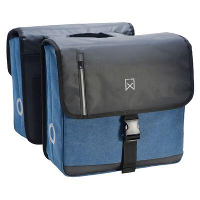 Willex Dubbel affärsväska 40 L svart och blå