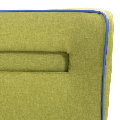 vidaXL Sängram med LED grön tyg 160x200 cm