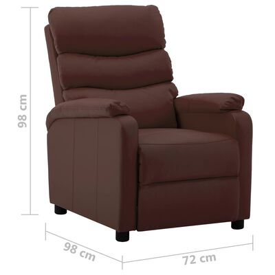 vidaXL Elektrisk reclinerfåtölj brun konstläder