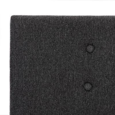 vidaXL Sängram mörkgrå tyg 120x200 cm