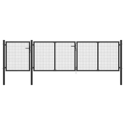 vidaXL Grind stål 400x100 cm antracit