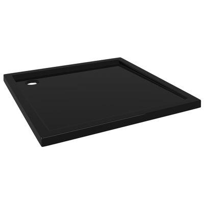 vidaXL Duschkar fyrkantigt ABS svart 90x90 cm