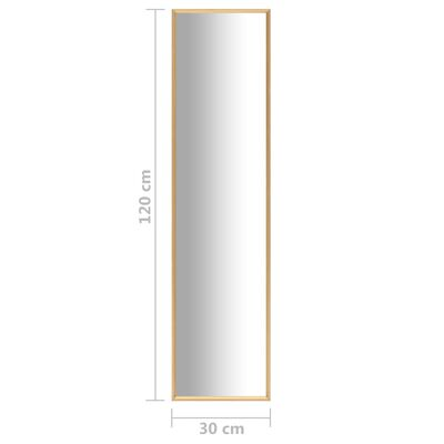 vidaXL Spegel guld 120x30 cm