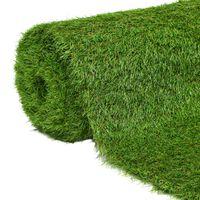 vidaXL Konstgräsmatta 1x5 m/40 mm grön
