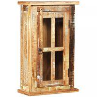 vidaXL Väggskåp massivt återvunnet trä 44x21x72 cm