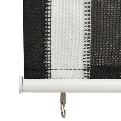 vidaXL Rullgardin utomhus 60x140 cm antracit och vita ränder